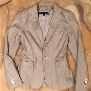 Ralph Lauren Black Label Tan metallic blazer.